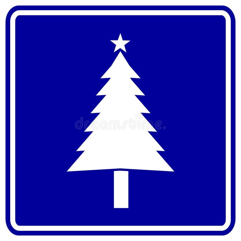 Het teken van de kerstboom stock illustratie