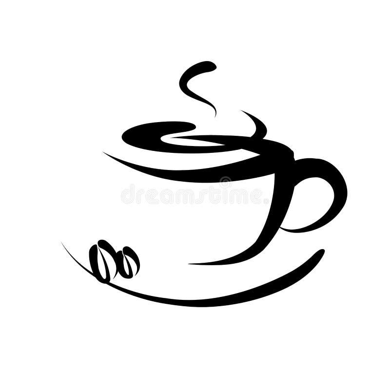 Het teken van de koffie royalty-vrije illustratie