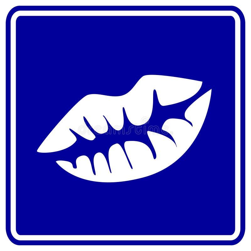 Het teken van de kus stock illustratie