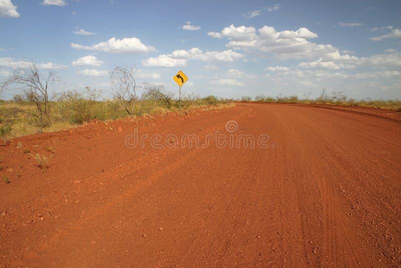 Het teken van de landweg stock foto