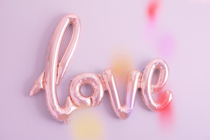 Het teken van de liefdeballon royalty-vrije stock foto