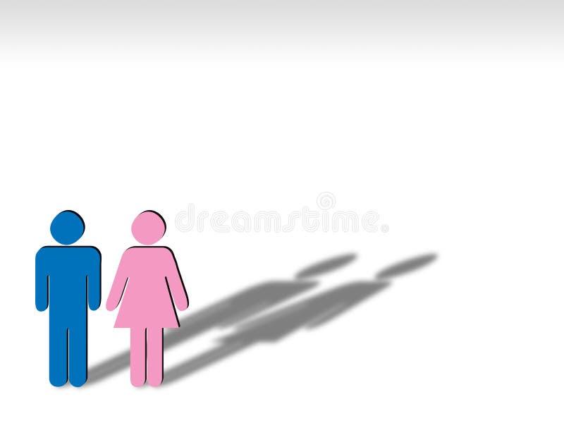 Het teken van de man en van de vrouw royalty-vrije illustratie