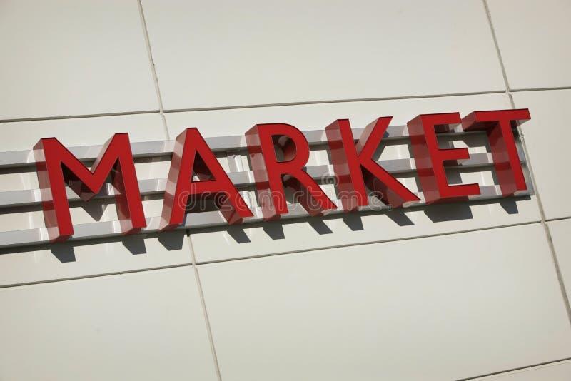 Het teken van de markt stock foto