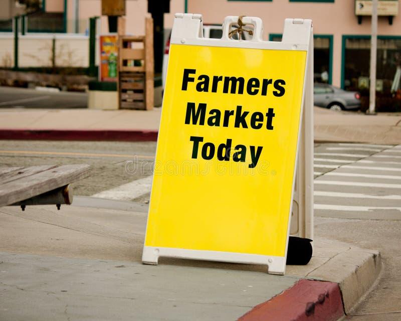 Het Teken van de Markt van landbouwers - de Raad van de Sandwich royalty-vrije stock afbeeldingen