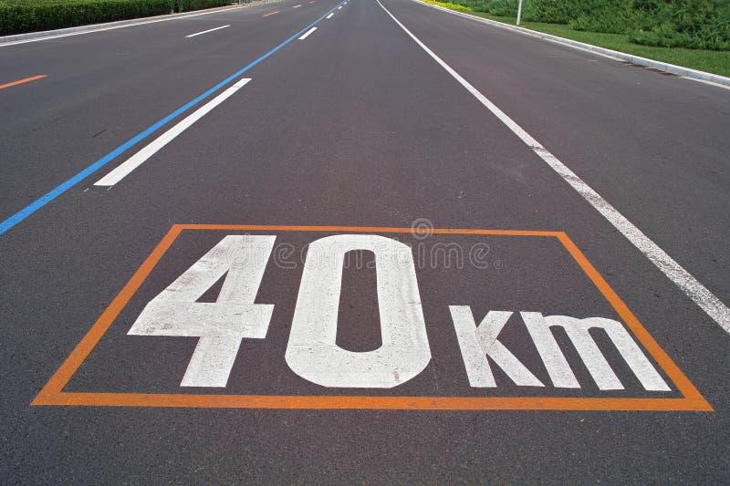 Het Teken van de maximum snelheid stock foto
