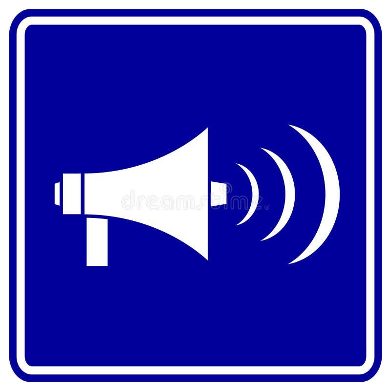 Het teken van de megafoon of van de megafoon royalty-vrije illustratie