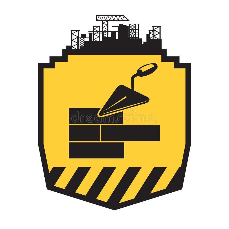 Het teken van de metselaarsarbeider royalty-vrije illustratie