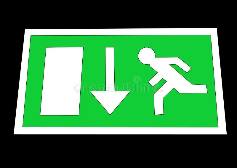 Het teken van de nooduitgang vector illustratie