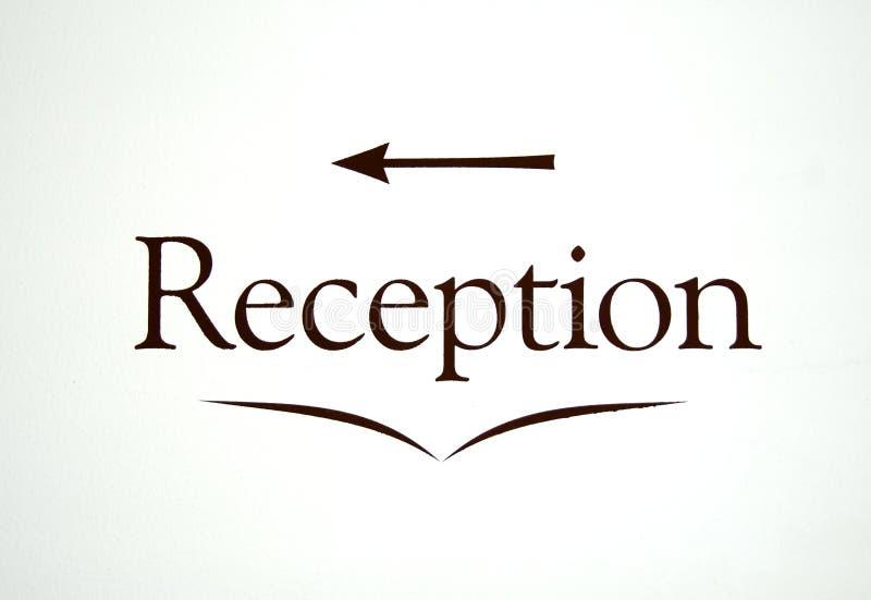 Het teken van de ontvangst vector illustratie
