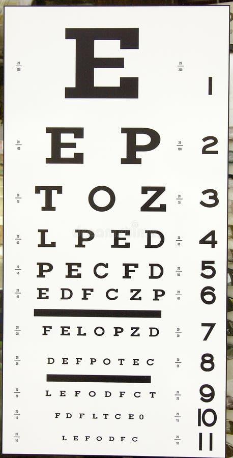 Het teken van de optometrist royalty-vrije stock afbeeldingen