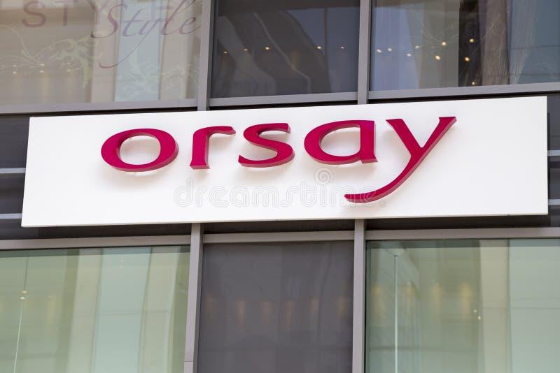 Het teken van de Orsayopslag stock foto's