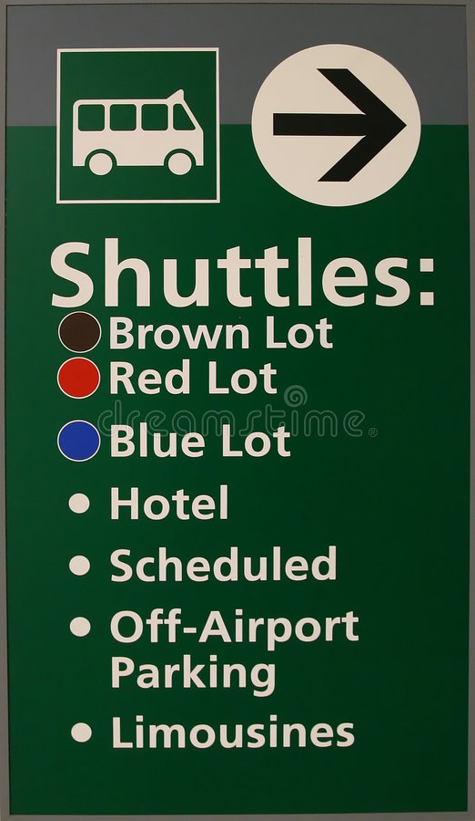 Het Teken van de Pendel van de luchthaven stock foto