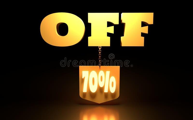 70 het Teken van de percentenkorting royalty-vrije stock fotografie