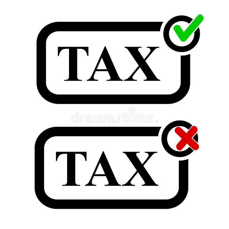 Het Teken van de pictogramstijl, Inbegrepen en Uitgesloten Belasting vector illustratie