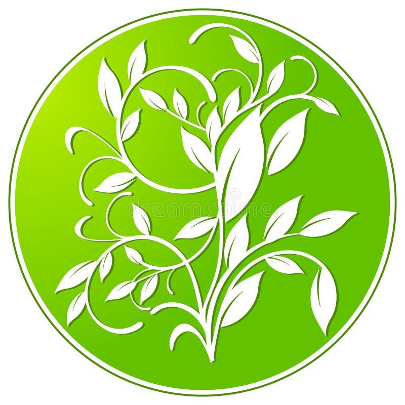 Het teken van de plantkunde royalty-vrije illustratie