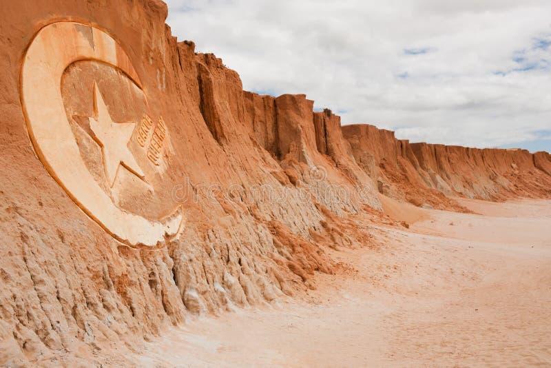 Het teken van de quebradagravure van Canoa royalty-vrije stock foto's