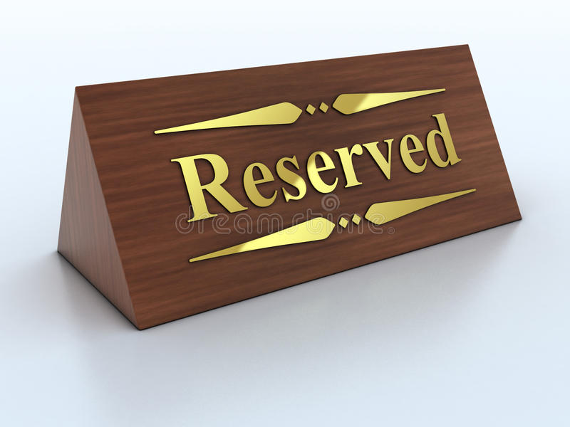 Het teken van de reserve stock illustratie