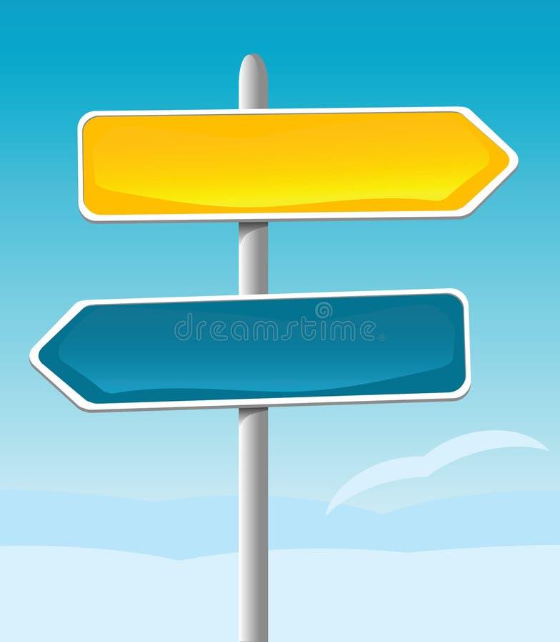 Het Teken van de richting stock illustratie