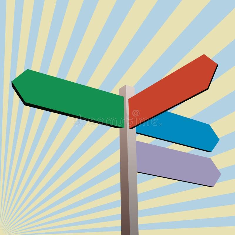 Het teken van de richting vector illustratie