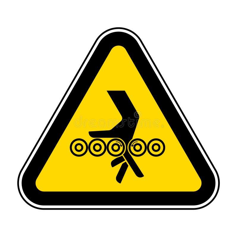 Het Teken van het de Rollensymbool van de handverwarring, Vectorillustratie, isoleert op Wit Etiket Als achtergrond EPS10 stock illustratie