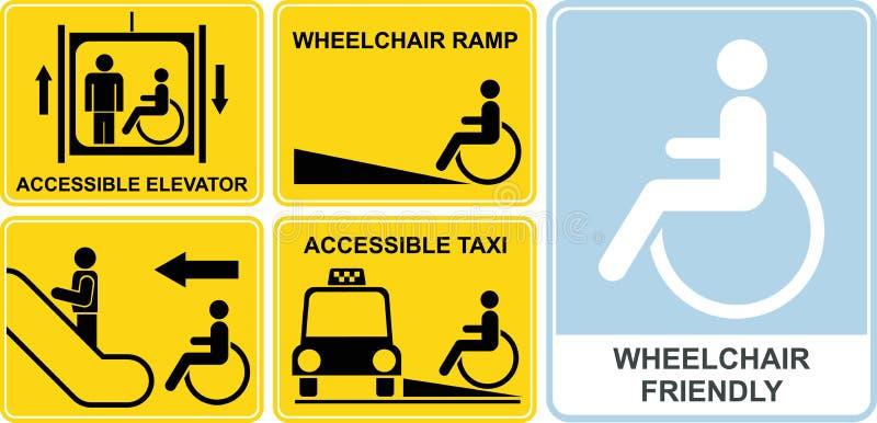 Het teken van de rolstoel royalty-vrije illustratie