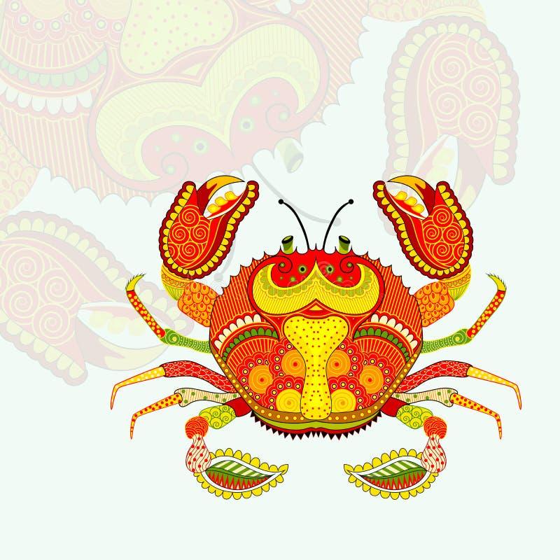 Het Teken van de Scorpiusdierenriem vector illustratie