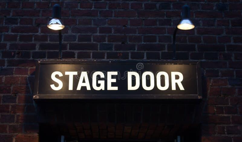 Het teken van de stadiumdeur royalty-vrije stock fotografie