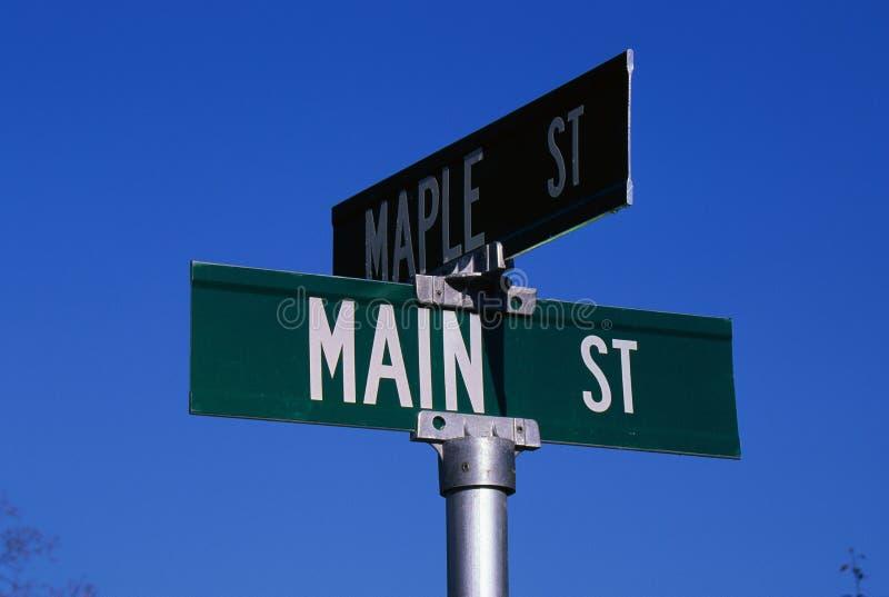 Het teken van de straat stock foto