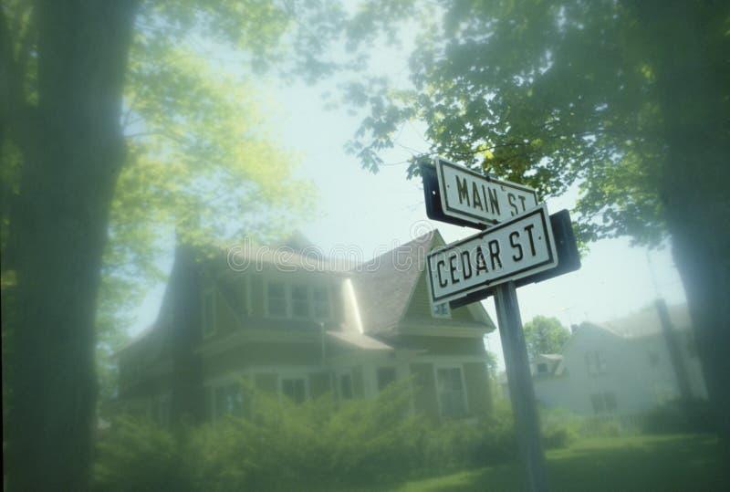 Het Teken van de straat - Hoofdstraat de V.S. royalty-vrije stock foto's