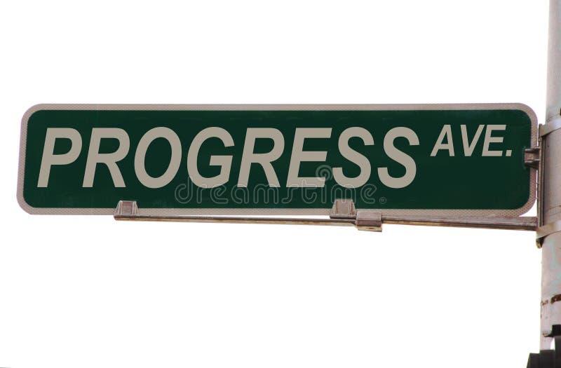Het Teken van de Straat van de Weg van de vooruitgang stock fotografie