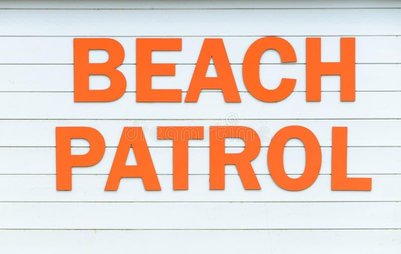 Het teken van de strandpatrouille royalty-vrije stock afbeelding