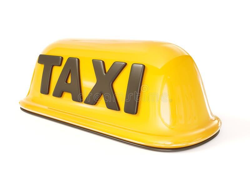Het teken van de taxi vector illustratie