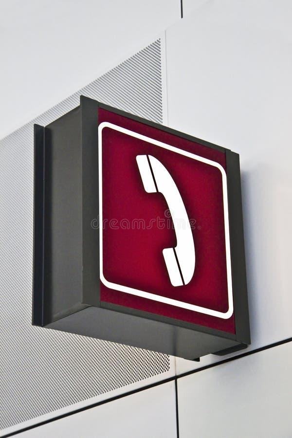 Het teken van de telefoon stock foto's