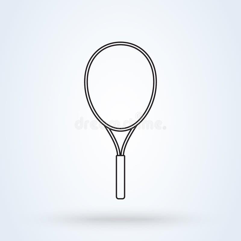 Het teken van de tennisracket illustratie van het het pictogramontwerp van de lijnkunst de vector moderne vector illustratie