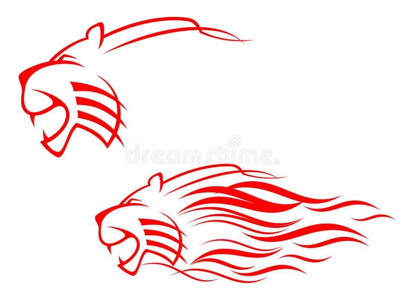 Het teken van de tijger royalty-vrije illustratie