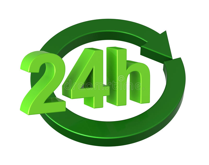 het teken van de 24 urenlevering royalty-vrije illustratie