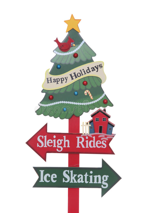 Het Teken van de Vakantie van Kerstmis royalty-vrije stock afbeeldingen