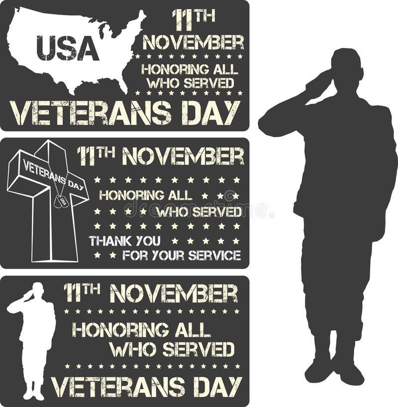 Het teken van de veteranendag stock illustratie