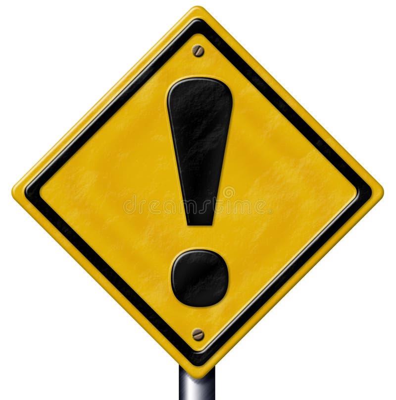 Het Teken van de voorzichtigheid stock illustratie
