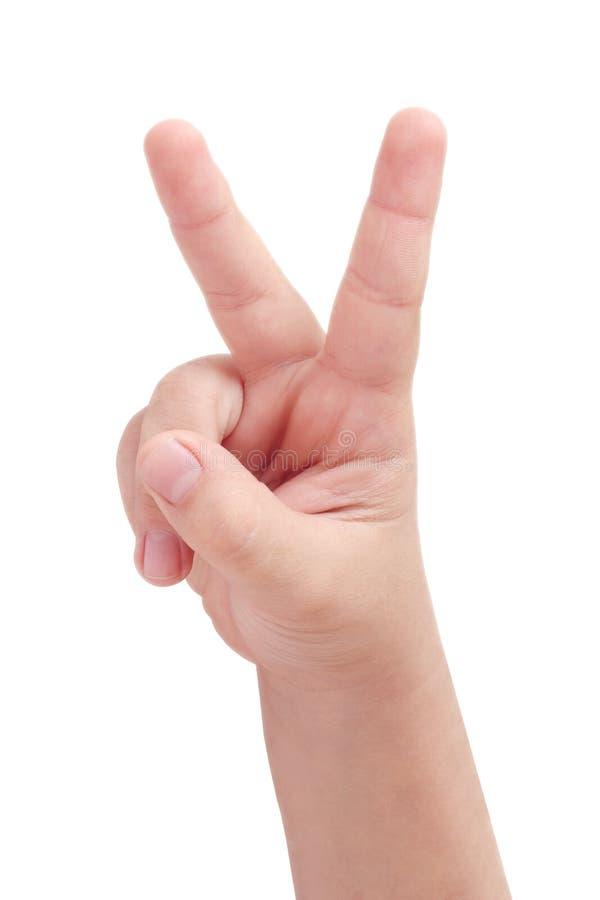 Het teken van de vrede stock fotografie