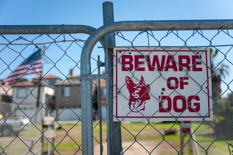 Het teken van de wachthond stock fotografie