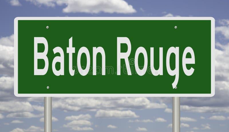 Het teken van de weg voor de Rouge van de Baton royalty-vrije stock foto