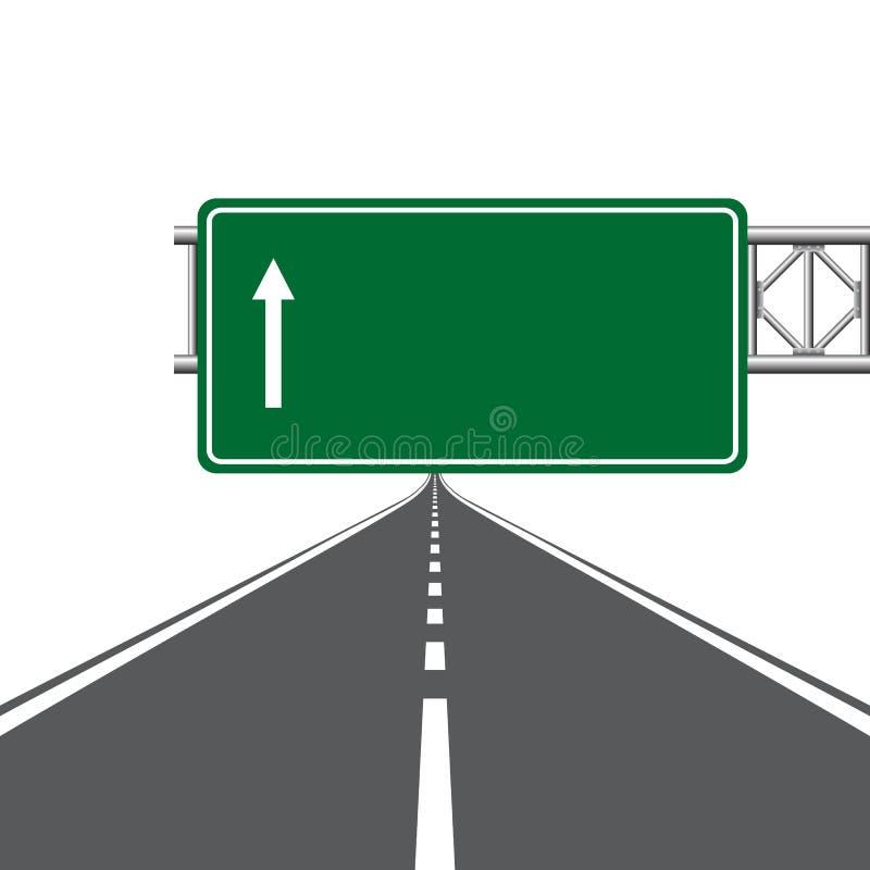 Het teken van de wegweg royalty-vrije illustratie