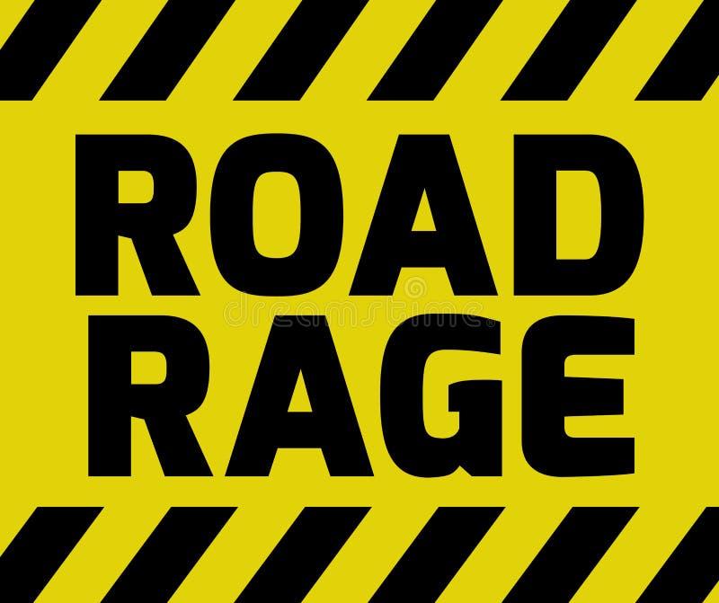 Het teken van de wegwoede stock illustratie