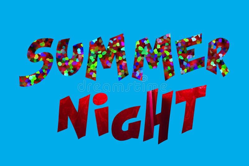 Het teken van de de zomernacht stock afbeelding