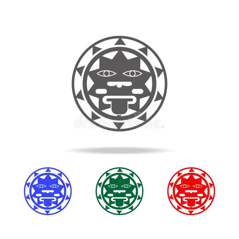 het teken van de zon van het pictogram van Mexico Elementen van cultuur van de multi gekleurde pictogrammen van Mexico Grafisch h vector illustratie