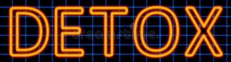 Het teken van het Detoxneon vector illustratie