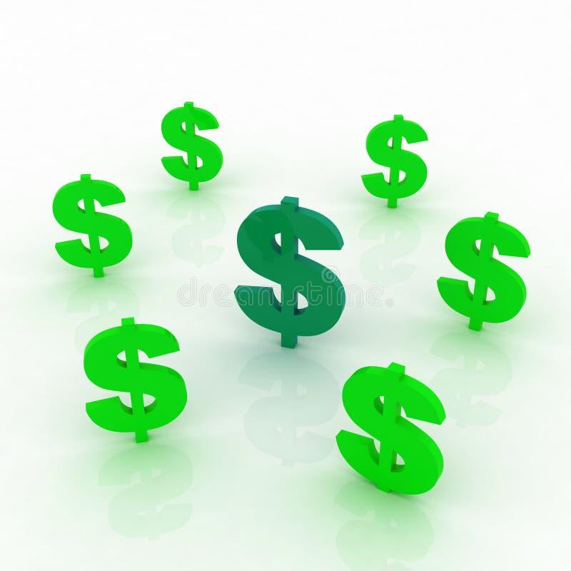 Het teken van dollars vector illustratie