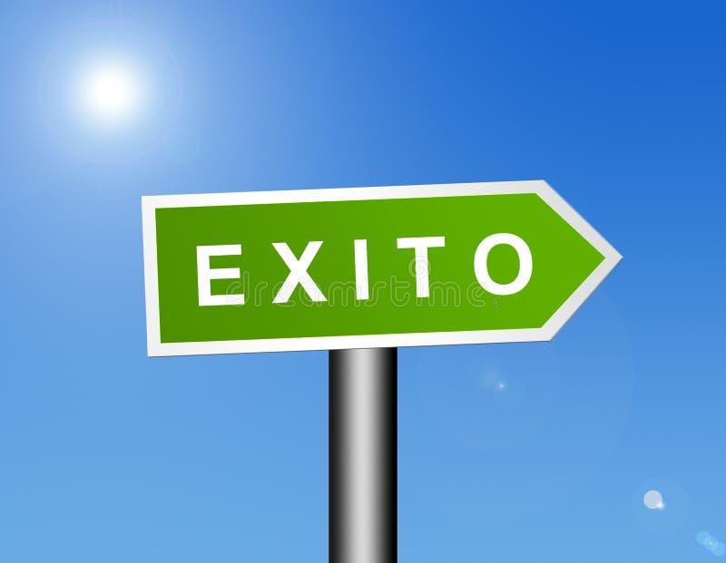 Het teken van Exito royalty-vrije illustratie