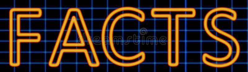 Het teken van het feitenneon vector illustratie